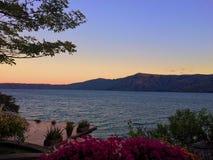 Sonnenuntergang in Nicaragua Lizenzfreie Stockfotografie