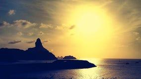 Sonnenuntergang Noronha Stockfoto