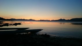 Sonnenuntergang in Norwegen Lizenzfreie Stockfotografie