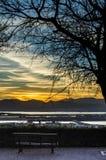 Sonnenuntergang ohne Zuschauer Lizenzfreie Stockfotos