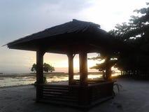Sonnenuntergang-Orangen-Dämmerung Lizenzfreies Stockfoto