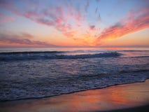 Sonnenuntergang am Orre Strand, Norwegen Lizenzfreies Stockfoto
