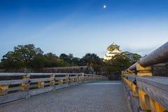 Sonnenuntergang an Osaka-Schloss in Kyoto, Japan Stockbild