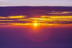 Sonnenuntergang in Ostsee stockfotos