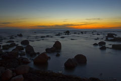 Sonnenuntergang in Ostsee Lizenzfreies Stockbild