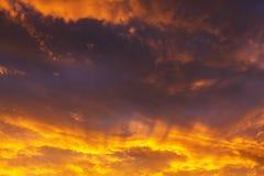 Sonnenuntergang in Ostsee stockfoto