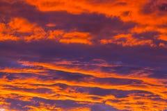 Sonnenuntergang in Ostsee lizenzfreie stockfotografie