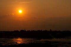 Sonnenuntergang in Ostsee Lizenzfreie Stockfotos