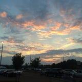 Sonnenuntergang in Oxford Lizenzfreies Stockbild