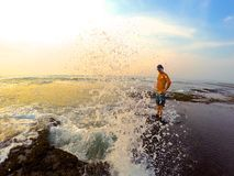Sonnenuntergang-Ozean-Liebe Stockfotografie