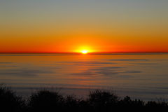 Sonnenuntergang, Ozean, San Diego, Torrey Pines State Park Stockbild
