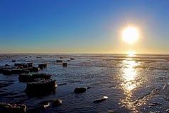 Sonnenuntergang, Ozean, San Diego, Torrey Pines State Park Lizenzfreies Stockbild