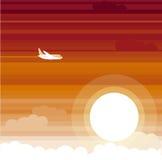 Sonnenuntergang palne vektor abbildung
