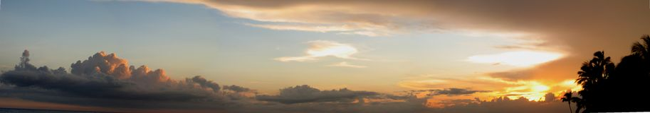 Sonnenuntergang-Panorama Lizenzfreies Stockfoto