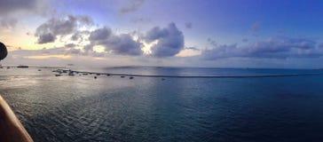 Sonnenuntergang, pazifisch lizenzfreies stockfoto