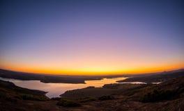 Sonnenuntergang in Pedra Calhau tun stockbild