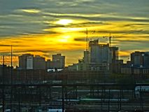 Sonnenuntergang philly lizenzfreies stockfoto