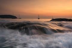 Sonnenuntergang in Phuket Lizenzfreies Stockfoto