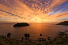 Sonnenuntergang Phuket-Insel Lizenzfreie Stockfotografie
