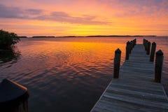 Sonnenuntergang-Pier lizenzfreies stockbild