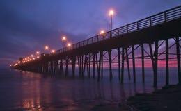 Sonnenuntergang am Pier Lizenzfreies Stockfoto