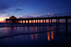 Sonnenuntergang-Pier Stockfotografie