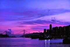 Sonnenuntergang-Pier Stockfoto