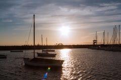 Sonnenuntergang an Pier St. Kilda lizenzfreie stockfotos
