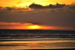 Sonnenuntergang an Playa EL Espino Lizenzfreie Stockfotos