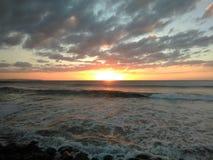 Sonnenuntergang Playa Rompeolas Aquadillia Puerto Rico Lizenzfreies Stockbild