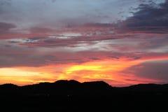 Sonnenuntergang in Popoyo Lizenzfreie Stockfotos