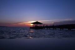 Sonnenuntergang in Portoroz Lizenzfreies Stockbild