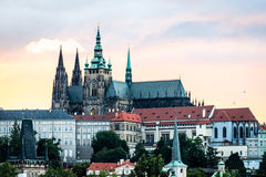 Sonnenuntergang in Prag, Tschechische Republik Stockbild
