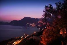 Sonnenuntergang praiano Ansicht lizenzfreie stockfotos