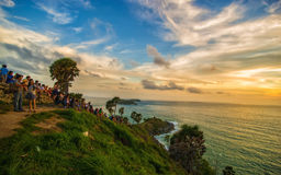 Sonnenuntergang am Promthep Umhang Stockfotos