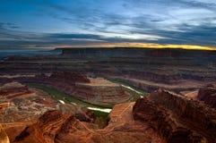 Sonnenuntergang am Punkt-Nationalpark der im Voraus bezahlten Leistungen. Lizenzfreies Stockbild
