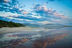 Sonnenuntergang reflectioncs Lizenzfreie Stockfotografie