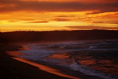 Sonnenuntergang-Reflexionen Stockbild
