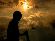 Sonnenuntergang-Reflexionen stockfoto