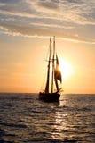 Sonnenuntergang-Reiseflug Lizenzfreies Stockfoto