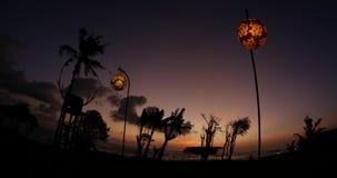 Sonnenuntergang-Restaurant Bali 4k stock footage