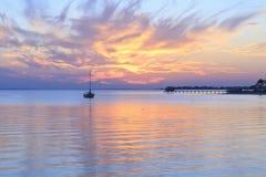 Sonnenuntergang-Reste lizenzfreies stockfoto