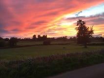 Sonnenuntergang in Richtung zu Newport lizenzfreies stockfoto