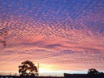Sonnenuntergang Rivo stockfoto
