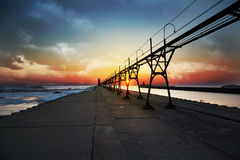 Sonnenuntergang-Südhafen Stockfoto