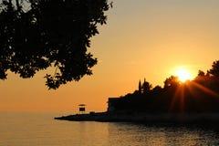 Sonnenuntergang Saccorgiana Verudela Lizenzfreies Stockfoto