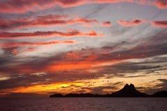 Sonnenuntergang San Carlos Mexiko Stockbilder
