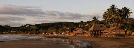 Sonnenuntergang in San Juan Del Sur Stockfoto