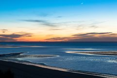 Sonnenuntergang in Sanlúcar de Barrameda lizenzfreie stockfotografie