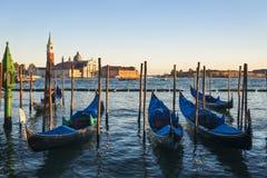 Sonnenuntergang Sans Giorgio Maggiore Italy Stockbild